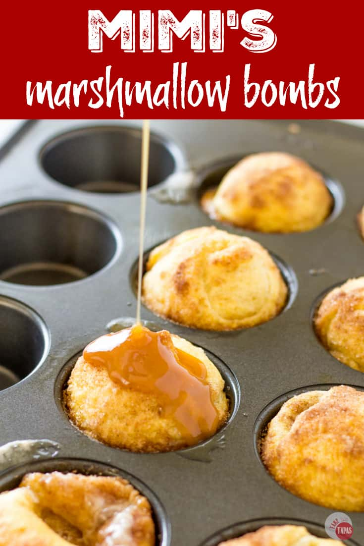"Pinterest image with text ""mimi's Marshmallow Bombs"""