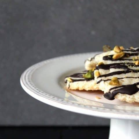 Dark Chocolate Pistachio Shortbread | taketwotapas.com