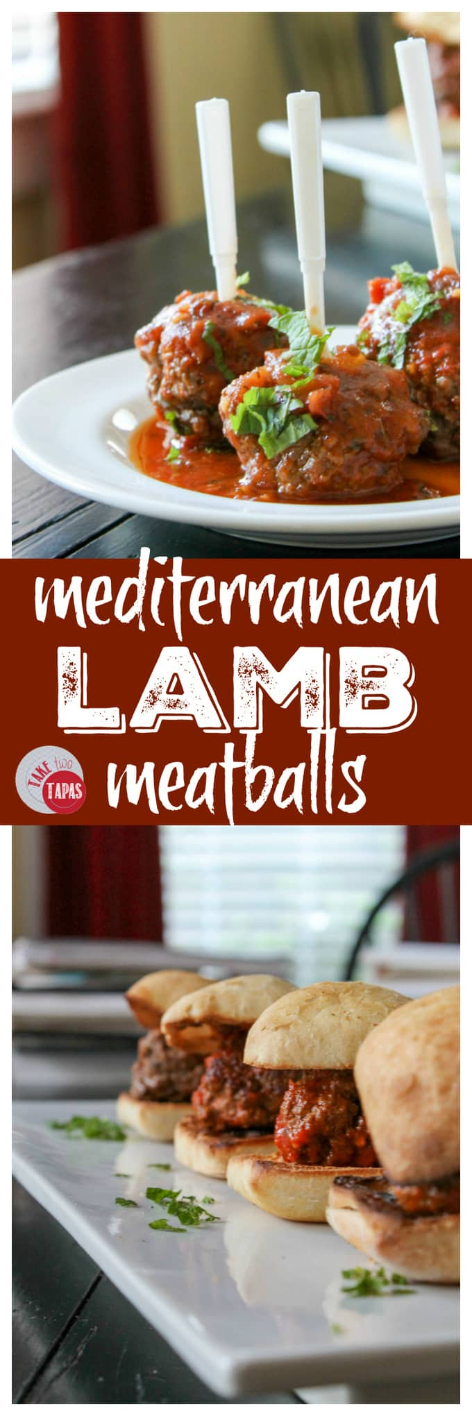 Mediterranean Lamb Meatballs for the win | Take Two Tapas | #Mediterranean #lamb #meatballs #tapas #TomatoSauce