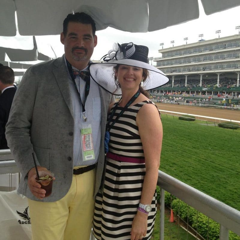 two people at the kentucky derby