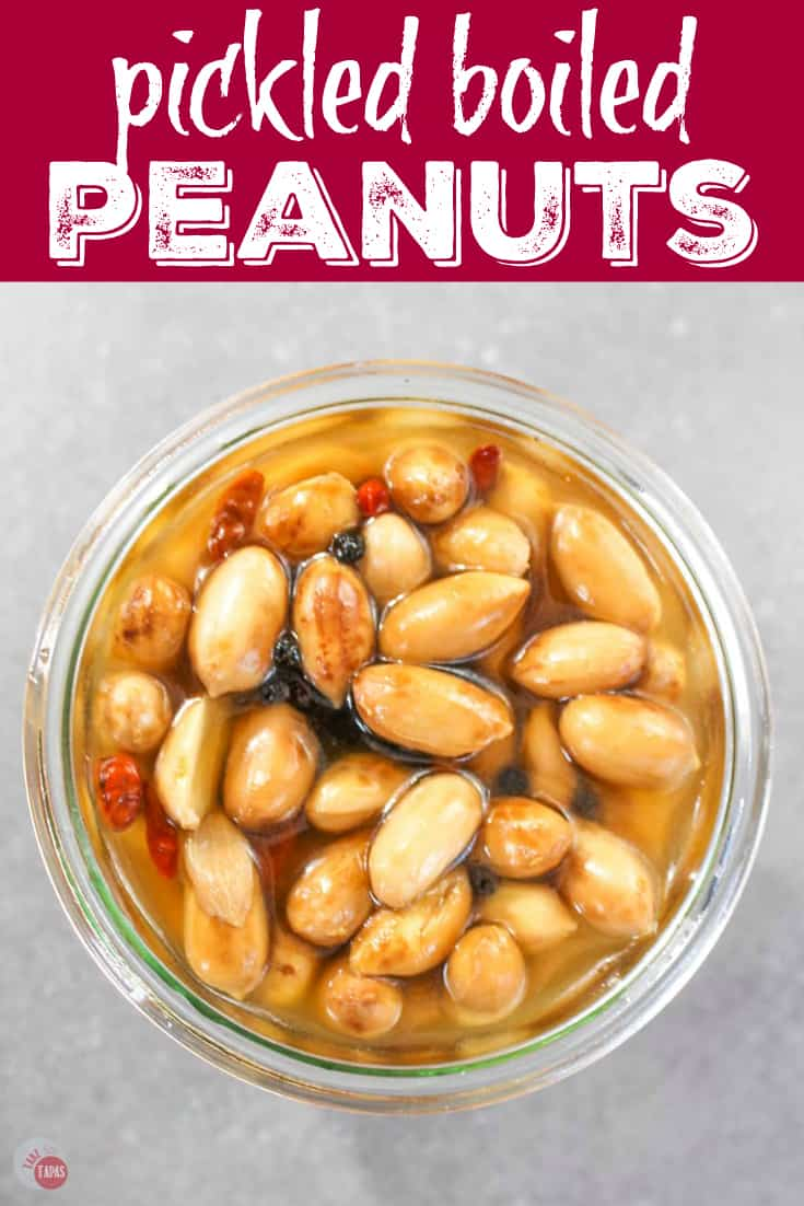 pinterest image for pickled boiled peanuts