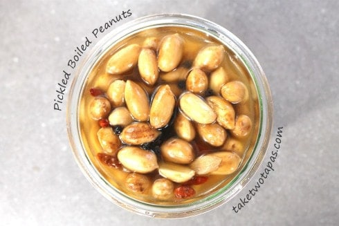 Pickled Boiled Peanuts | taketwotapas.com