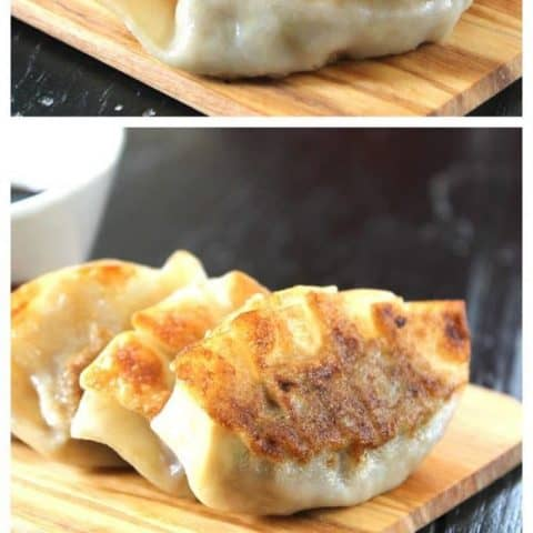 3 image photo of gyoza
