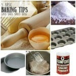 "collage image with text ""5 basic baking tips every baker should know"""