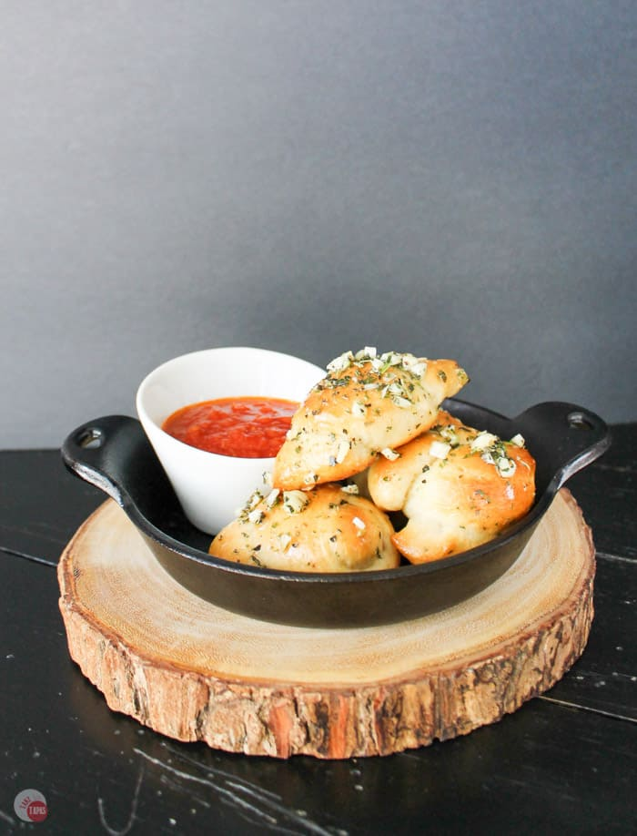 Kathy's World Famous Garlic Knots | Take Two Tapas | #GarlicKnots #Garlic #knots #Bread