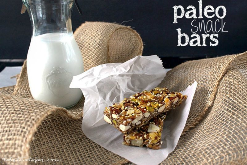 Paleo Snack Bars for Healthy Snacking | Take Two Tapas | #Healthy #Paleo #Snack #Bars #Nuts #GranolaBars