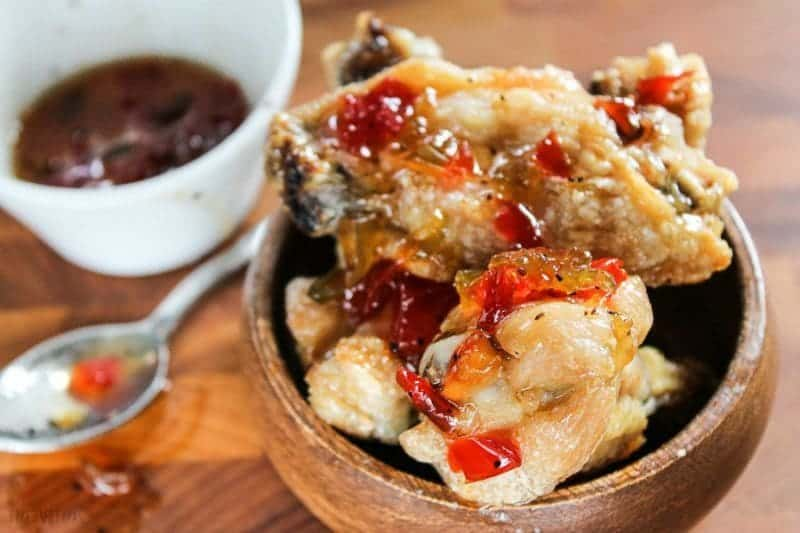 Crispy Chicken Wings with Four Pepper Jelly