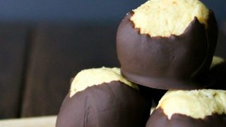 Bourbon Buckeyes with a Surprise Inside