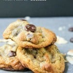 "pinterest image with text ""Dark Chocolate Toasted Coconut Cookies"""
