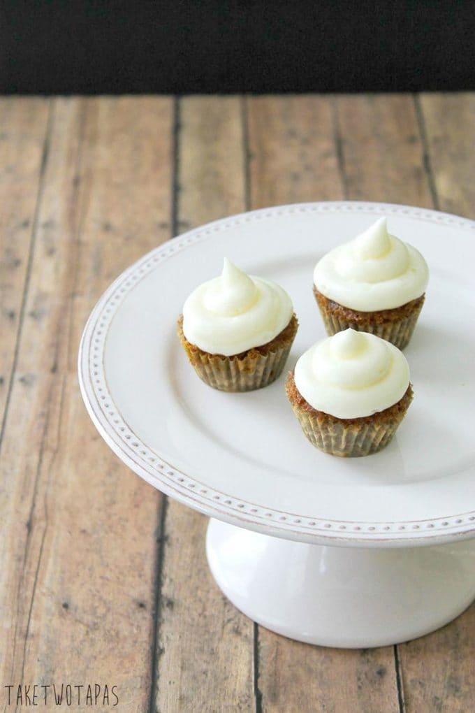 Mini Carrot Cake Cupcakes with a Surprise | Take Two Tapas