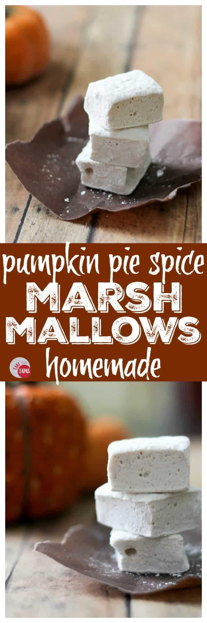Homemade Pumpkin Pie Spice Marshmallows | Take Two Tapas