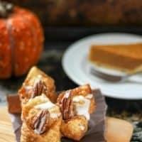 Chocolate Pumpkin Wontons