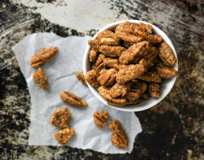 overhead picture of ginger snap pecans