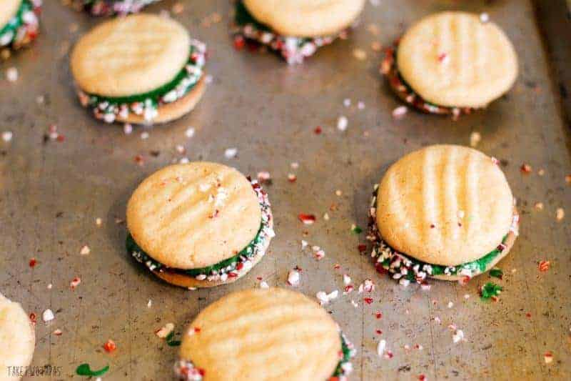 Peppermint Sandwich Cookies to Share with Friends