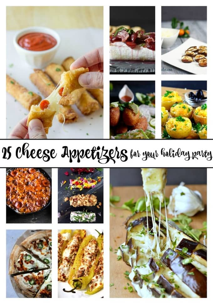 25 of the best cheese appetizers for your holiday party!