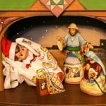 Our Elf on the Shelf, Edward, in our Christmas manger scene