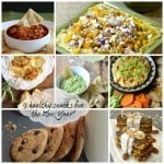 "collage image with text ""9 Healthy Snacks for the New Year"""