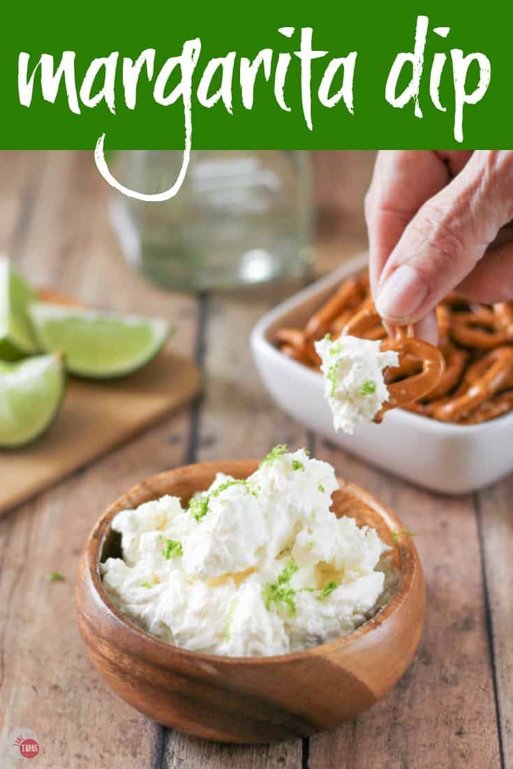 Margarita Dip with Pretzels | Take Two Tapas | #Margarita #MargaritaDip #Pretzels #Cocktails