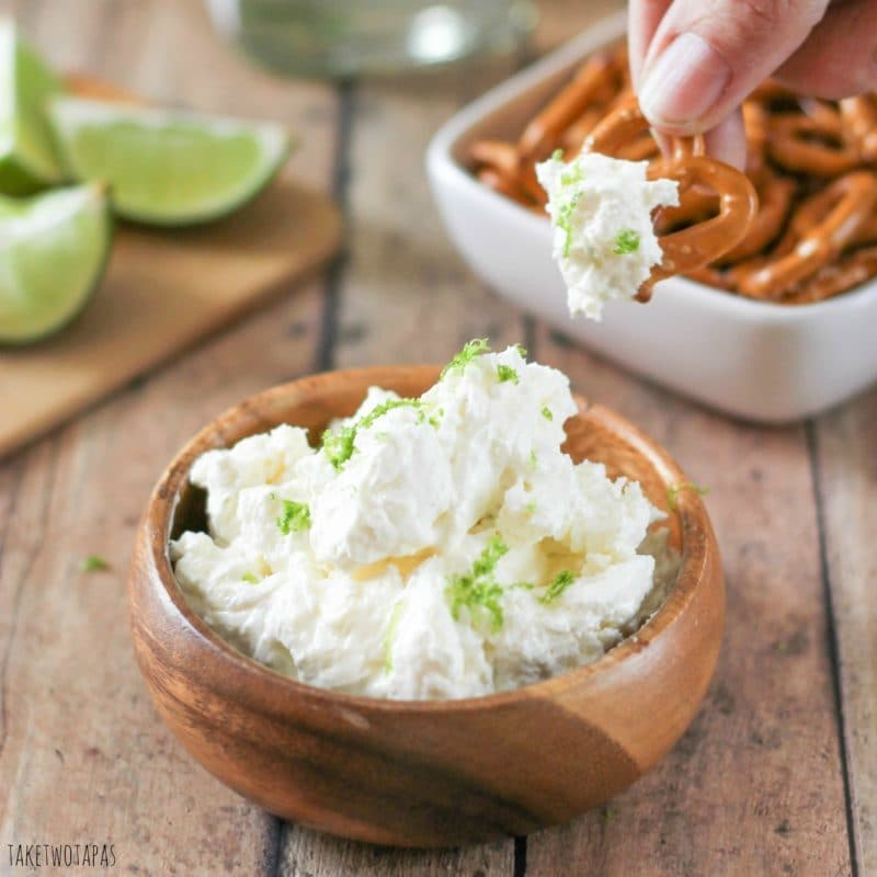 Margarita Dip with Salted Pretzels For A Cocktail You Can Eat!