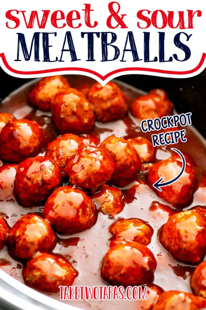 "meatballs with text ""sweet & sour meatballs"""