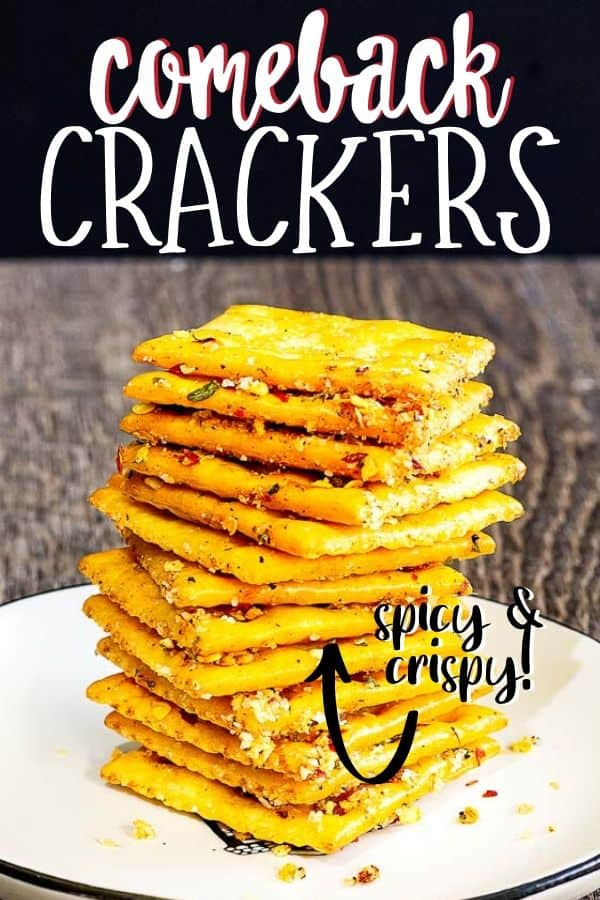 pinterest image for comeback crackers