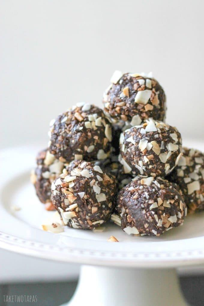 Date Energy Balls {Chocolate & Macadamia!} Take Two Tapas