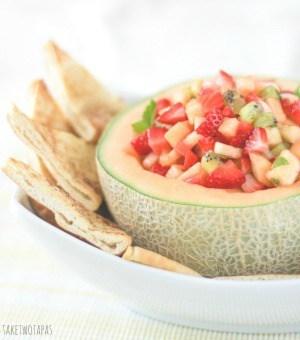 Fruit Salsa with Cinnamon Bourbon Pita Chips
