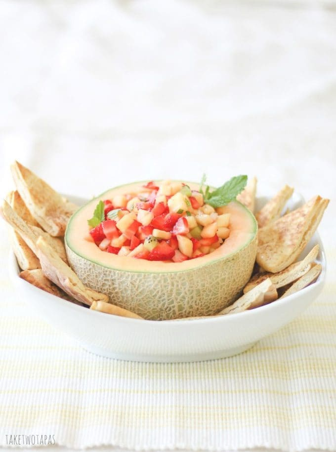 bowl of fruit salsa