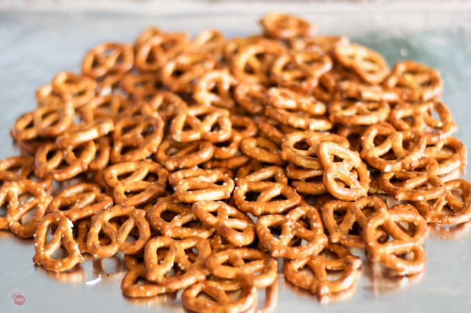 Pretzel Dessert Nachos Recipe | Take Two Tapas | #Pretzels #Nachos #Dessert #PeanutButter