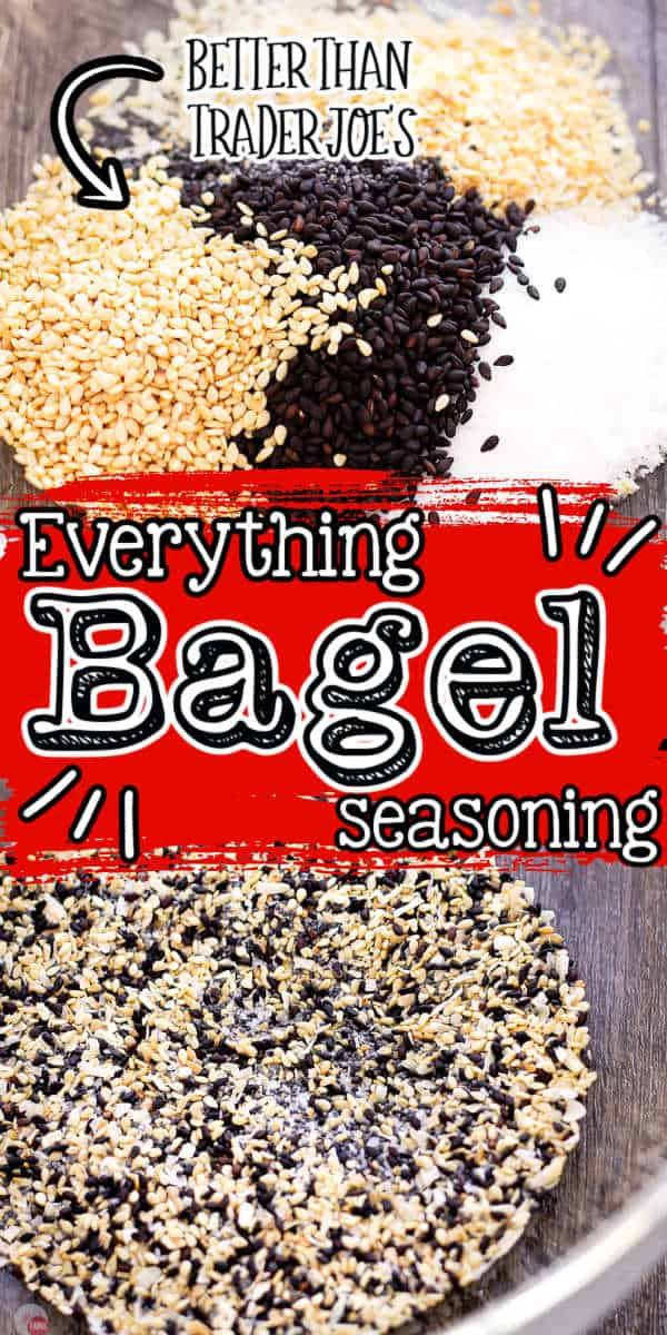 "Pinterest collage image with text ""everything bagel seasoning"""