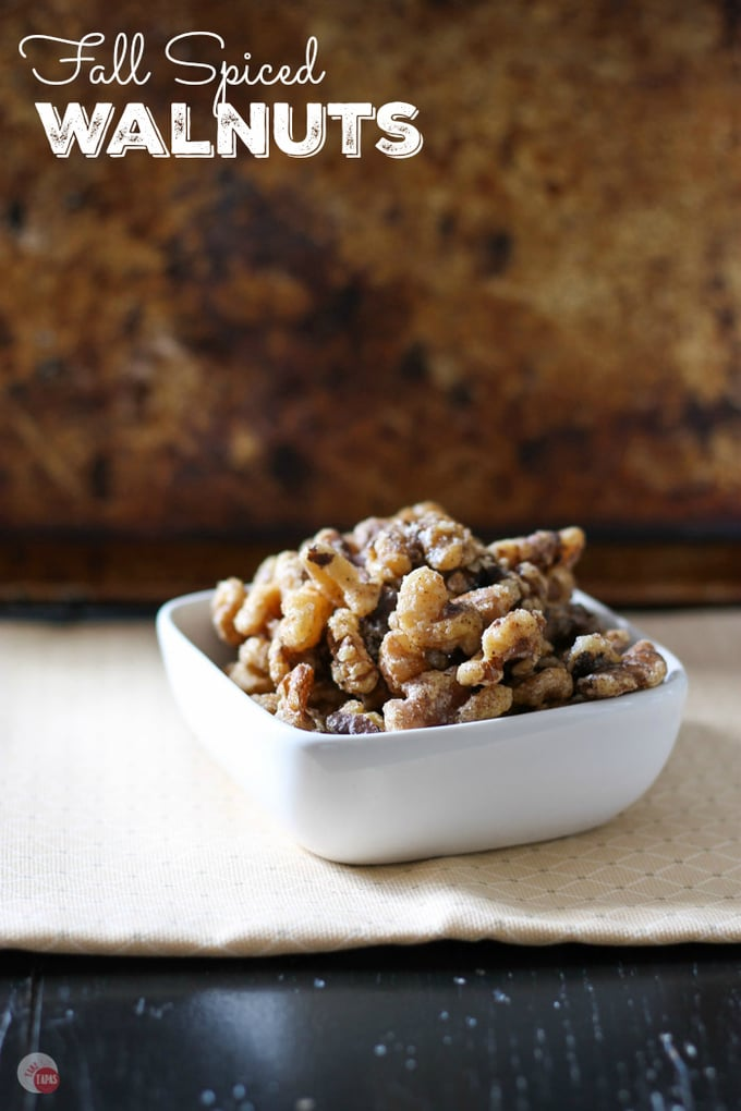 Crispy Fall Spiced Walnuts Recipe | Take Two Tapas | #Fall #Autumns #Walnuts #Snacks