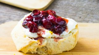 Honey Roasted Cranberry Ricotta Crostini