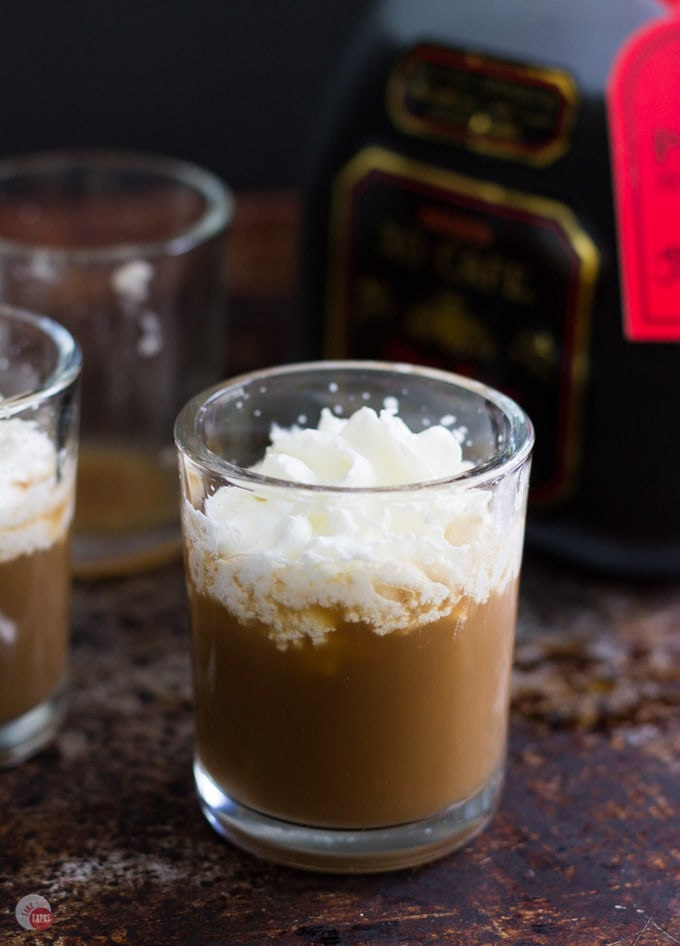 The boozy concoction known as the White Russian combines vodka, coffee liqueur for a kick, and cream to round it all out. I have taken it down in size to a shot that is perfect for a Monday Pick Me Up! White Russian Shot Recipe   Take Two Tapas