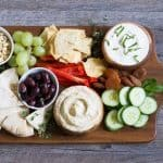 Mediterranean Tapas Hummus Meze Platter for Your Holiday Entertaining Recipe Tutorial | Take Two Tapas | #Meze #Hummus #CheeseBoard #Tapas