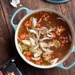 This savory beef bone broth is a simple recipe that is the perfect remedy for a winter cold or just as a light pick-me-up! Beef Bone Broth Recipe | Take Two Tapas