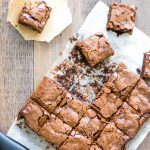 Bacon Salt Brownies are chewy, sweet, salty, and smoky all at the same time! | Take Two Tapas | #BaconSalt #Bacon #Brownies #BaconSaltBrownies #BrownieRecipes