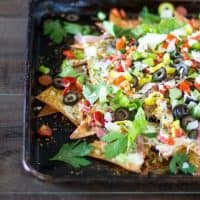Sheet Pan Italian Nachos For Sharing With Friends