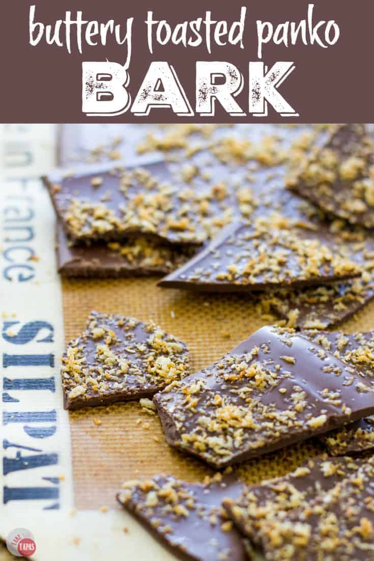 Dark Chocolate Bark with Panko Crumbs Recipe | Take Two Tapas | #Bark #Chocolate #Panko #Salty #Snacks #Desserts