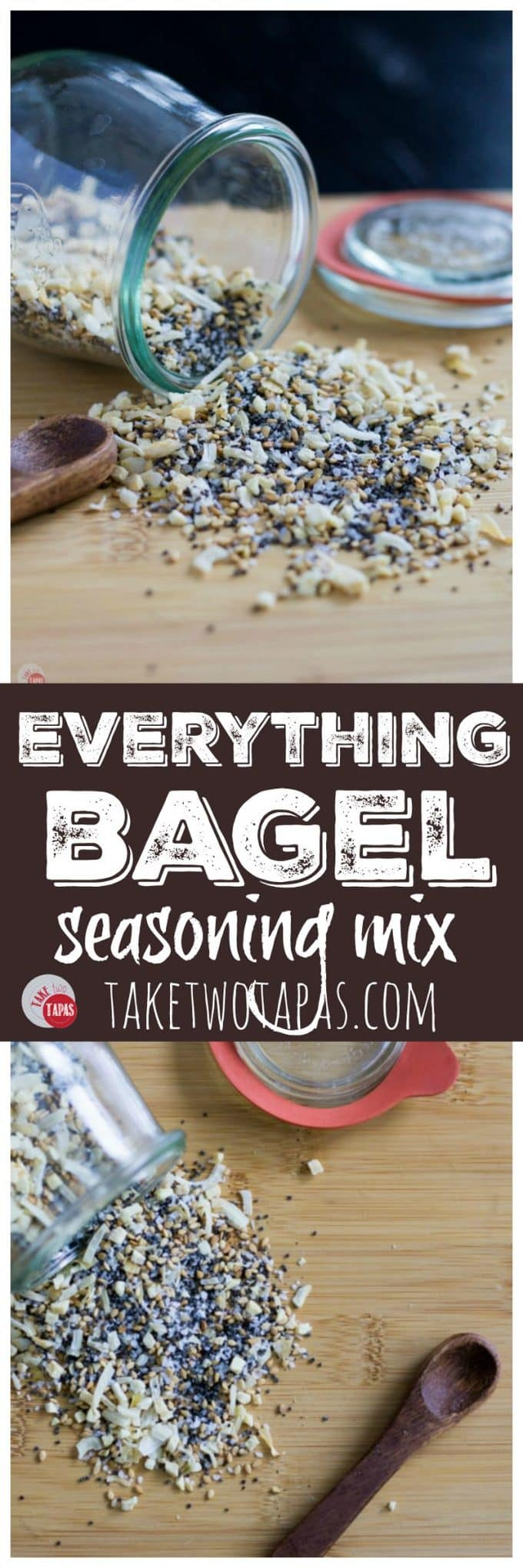 Make your own Everything Bagel Seasoning Mix at home with your own pantry spices! | Everything Bagel Seasoning Mix Recipe | Take Two Tapas #EverythingBagelSeasoning #EverythingBagel #BagelSeasoning