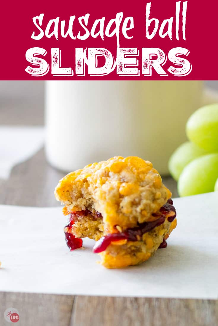 Sausage Ball and Jelly Breakfast Sliders | Take Two Tapas | #SausageBalls #Sausage #Breakfast #Jelly #Sliders #AD #BreakfastGoals2018