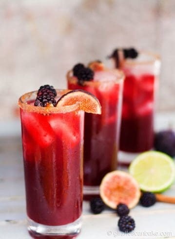Blackberry Cinnamon Fig Margaritas | Giraffes Can Bake