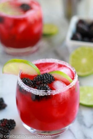 Blackberry Lime Margaritas | Celebrating Sweets