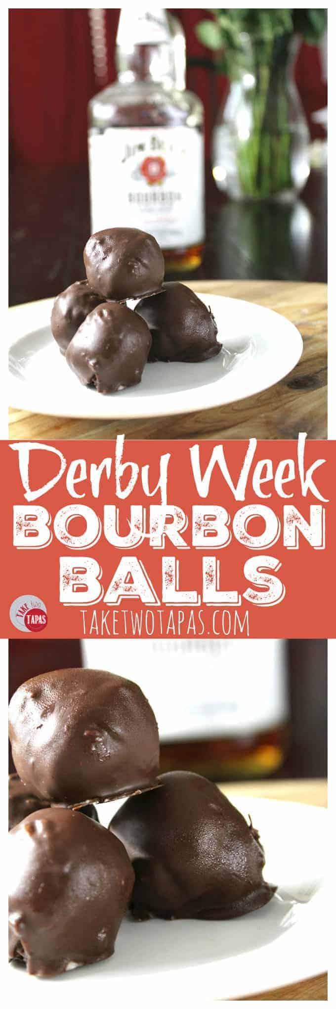 Derby Week Bourbon Balls | Take Two Tapas | #KentuckyDerby #BourbonBalls #bourbon #Truffles #Sweets