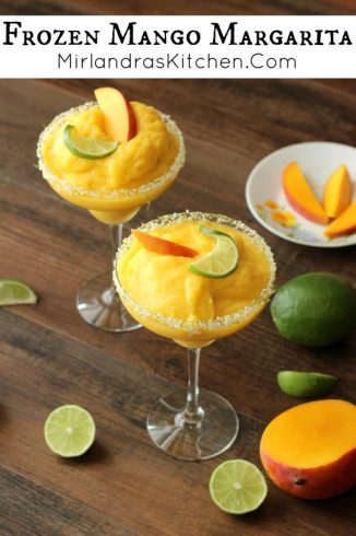 Frozen Mango Margarita | Mirlandras Kitchen