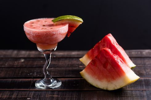 Grilled Watermelon Frozen Margaritas | Nomageddon
