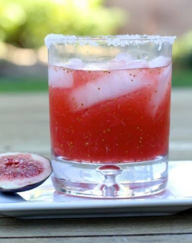 Fresh Fig Margarita | Karen's Kitchen Stories