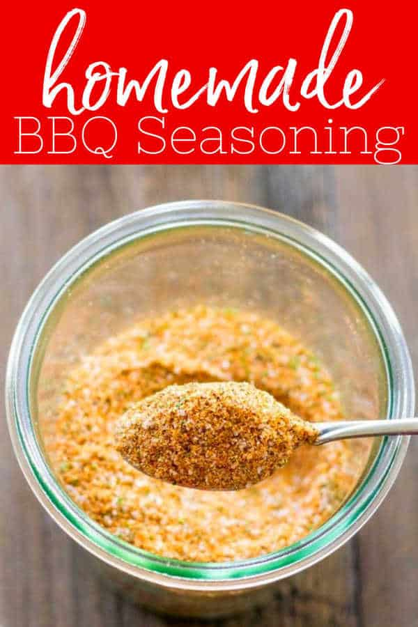 Make your own BBQ Seasoning spices from your own pantry!  Perfect for summer grilling or spicing up a boring meal during the week! #BBQSeasoning #SpiceRub #Salt #Rub #Recipe #homemade #chicken