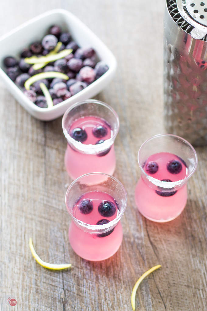 Refreshing Blueberry and Lemonade Shots | Take Two Tapas