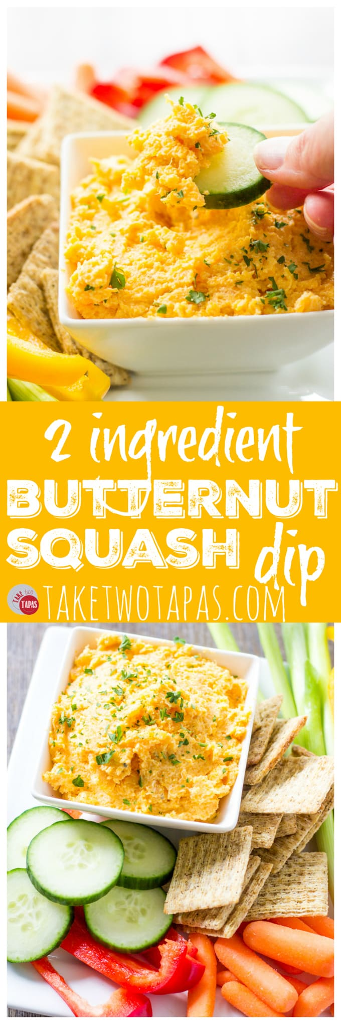 Butternut squash dip with only 2 ingredients! | Take Two Tapas