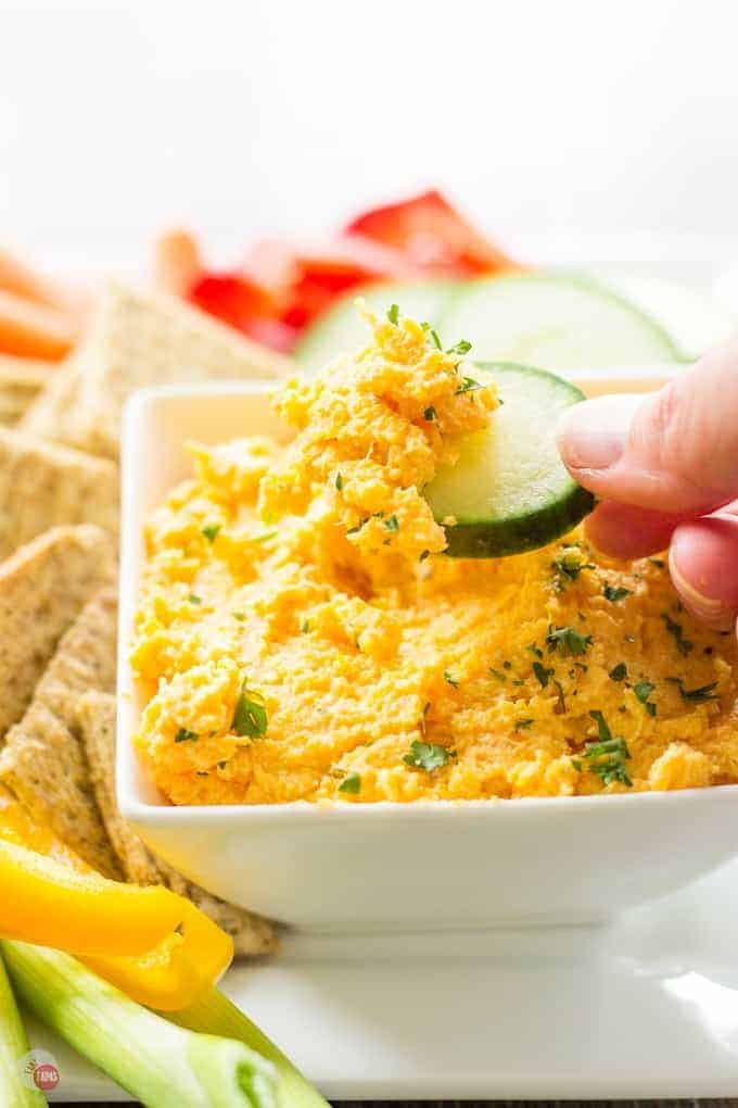 2 Ingredient Butternut Squash Dip | Take Two Tapas | #Butternut #Squash #Boursin #Cheese #Dip